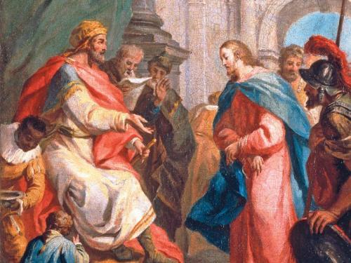 Kajaphas hat sich entschieden: Man muss Jesus beseitigen, bevor er zur ernsten Bedrohung wird (Gemälde von Antonio Zucchi, 1750). pa