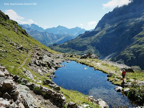 Ein See in den Bergen. Foto: kna/Corinne Simon/CIRIC