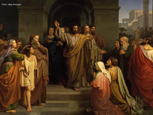 Karl Andreae: Die Pfingstpredigt des Petrus, 1844, Foto: akg-images