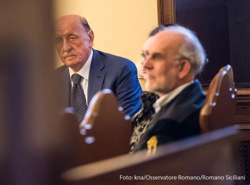 Der frühere Präsident der Vatikanbank Angelo Caloia beim Prozess gegen ihn im Frühjahr 2018.