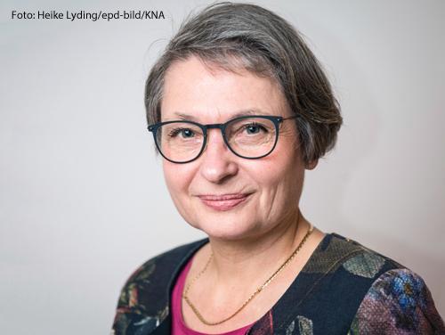 Bettina Limpberg ist evangelische Präsidentin des ökumenischen Kirchentags in Frankfurt,