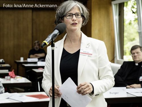 Birgit Mock (51) ist Geschäftsführerin des Hildegardis-Vereins und Vizepräsidentin des Katholischen  Deutschen Frauenbundes.