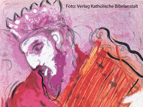 König David: eines der bekanntesten Bibelbilder von Marc Chagall.