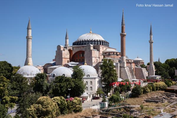 Die ehemals christliche Kirche Hagia Sophia in der Türkei