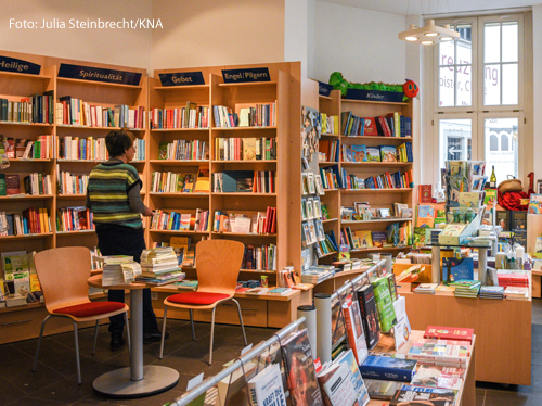 Eine katholische Buchhandlung in Münster