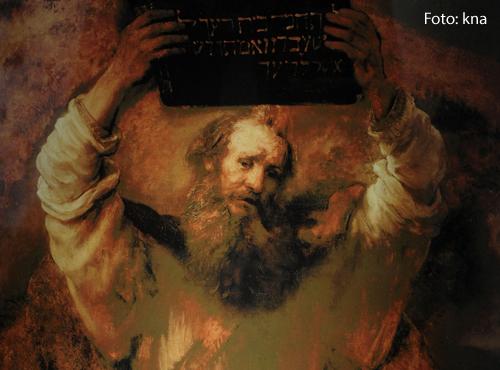 Ein Gemälde von 1659  zeigt Mose mit den Gesetzestafeln