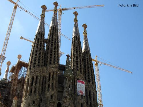 Die Sagrada in Familia in Barcelona