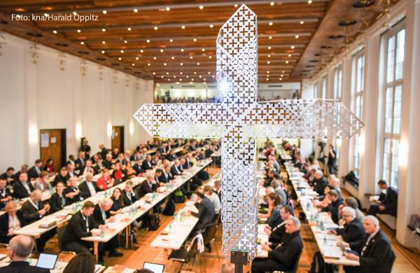 Die erste Synodalversammlung des Synodalen Wegs fand im Januar in Frankfurt statt.