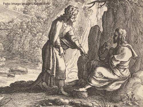 Die Versuchung (Zeichnung von Wenzel Hollar, 1625)