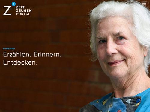 Bildschirmfoto: www.zeitzeugen-portal.de