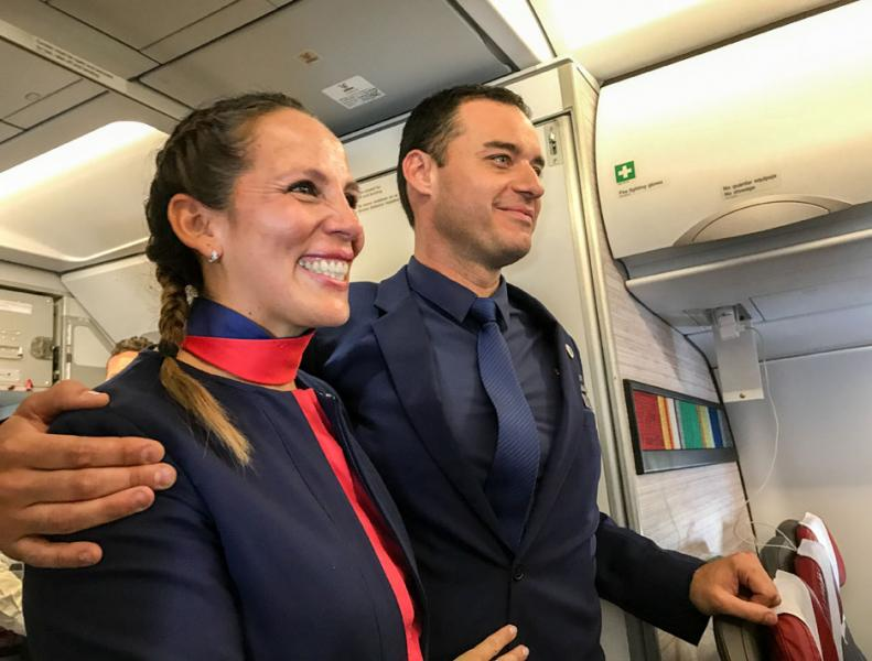 Papst traut Paar im Flugzeug