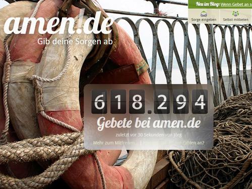 Das Portal Amen.de (Bildschirmfoto)