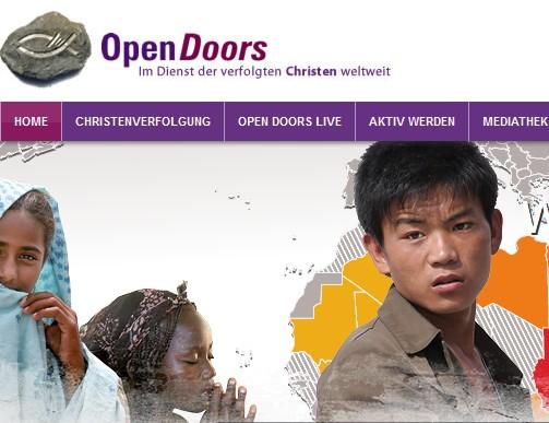 Bildschirmfoto: www.opendoors.de