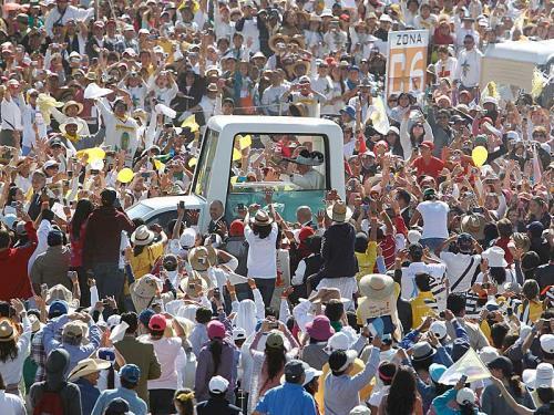 Hunderttausende feierten mit dem Papst eine Messe.